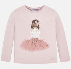 T-shirt girl Nude - Mayoral T-shirts for girl - Mayoral Girls Blouse, Branded T Shirts, Shirts For Girls, Art Girl, Gifts For Kids, Cotton Fabric, Graphic Sweatshirt, Brand New, Sweatshirts