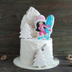 Соскучились по зиме? ❄️ тортик для девочки сноубордистки