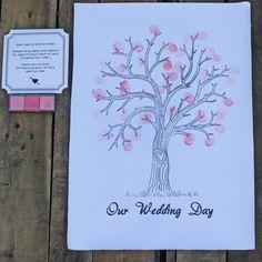 The Wedding of My Dreams - Wedding Fingerprint Tree Alternative Wedding Guest Book #wedding #theweddingofmydreams