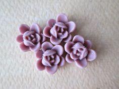 4PCS  Summer 2013  Mini Lotus Flower Cabochons  Resin  by ZARDENIA, $1.20