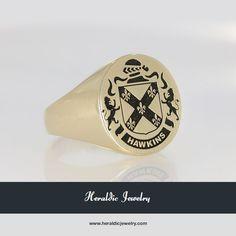 Hawkins family crest jewelry