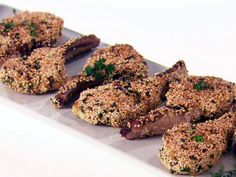 Want to try Quinoa so i found a really good recipe!  Quinoa and Herb Crusted Lamb from FoodNetwork.com