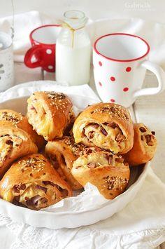 Sonkás-sajtos tekercs - tízóraira vagy uzsonnára Winter Food, Pizza, Breakfast, Morning Coffee