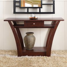 ($167) Furniture of America Magnolia Modern 1-Drawer Dark Walnut Sofa Table - Overstock™ Shopping - Great Deals on Furniture of America Coffee, Sofa & End Tables