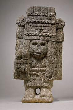 Maize Deity (Chicomecoatl), 15th–early 16th century Mexico; Aztec Basalt MET