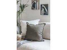 HENDRIX & Harlow Stonewash Linen Cushion - Silver Sage Silver Sage, Cushions, Indoor, Throw Pillows, Bed, Home, Decor, Interior, Toss Pillows