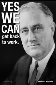 A Roosevelt Campaign Poster.