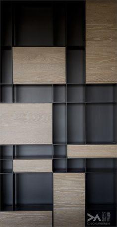BaronZh采集到屏风书柜(167图)_花瓣建筑设计