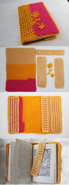 Обложка для книги крючком. Вязание крючком сумок. Crochet book cover. #selenapikoclub #сумки крючком #crochet book cover