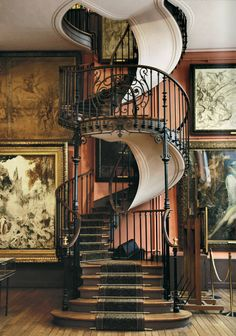When i buy my own house I WILL have a spiral staircase. If the house I buy doesn't have one, then I will have it built. My Dream Home, Dream Homes, Interior Exterior, Interior Design, Interior Doors, Modern Interior, Sweet Home, Stairway To Heaven, Design Case