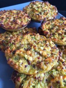 Galettes de lentilles corail, quinoa et légumes - WW 2PP/galette