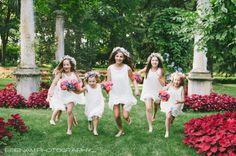 Sweet flower girls: http://www.stylemepretty.com/illinois-weddings/vernon-hills/2015/05/08/vibrant-romantic-illinois-wedding/ | Photography: Esenam - http://www.esenamphotography.com/
