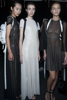 Elegant embellishments and lace underlays decorated the collection at #MariosSchwab's show. London fashion week SS14