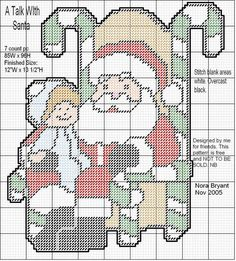 A TALK WITH SANTA by NORA BRYANT -- WALL HANGING