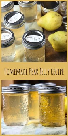 Homemade Pear Jelly is easy to make and a delicious and versatile condiment for glazing roast meats and veggies, a base for Asian dipping sauces, or just for toast or pancakes. Pear Jelly Recipes Easy, Pear Recipes To Can, Carne Asada, Canning Pears, Canning Food Preservation, Preserving Food, Pear Jam, Pear Relish, Salsa Dulce