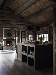 Top 60 Best Log Cabin Interior Design Ideas - Mountain Retreat Homes Home Design, Cabin Interior Design, Design Ideas, Wooden Cabins, Wooden House, Wooden Cottage, Rustic Cottage, Rustic Farmhouse, Cabin Homes