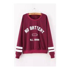 Yoins Letter Boyfriend Sweater (81 PLN) ❤ liked on Polyvore featuring tops, hoodies, sweatshirts, yoins, striped long sleeve top, purple top, stripe top, long sleeve sweatshirt and crew-neck sweatshirts