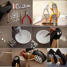 f037e6e4c669 Easy way to add sparkle to shoes-My Fashion Sketchbook  Fashion DIY
