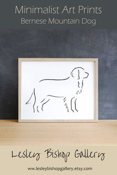 Looking for the perfect dog lover gift?  This minimalist design art print will delight any dog owner.   It's also a thoughtful pet loss gift.  The art print can be personalised with a pet's name or any other text.  There are many dog breeds to choose from.  Click through to see our shop to see them all.  #doglovers #personalizedgifts #dogart  #blackandwhite Gifts For Dog Owners, Gifts For Pet Lovers, Dog Lovers, Best Dog Gifts, Dog Mom Gifts, Dachshund Art, Dachshund Gifts, Bernese Mountain, Mountain Dogs