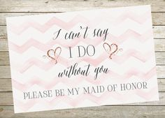 Instant Printable Maid of Honor Request Proposal Download-Print Yourself-Digital File
