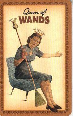 Queen of Wands - Housewives Tarot