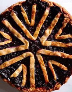 Lavender Blueberry Pie