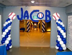 baseball balloon centerpieces images | Birthday and Baby Shower