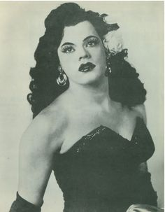Mario Costello, female impersonator, 1955.