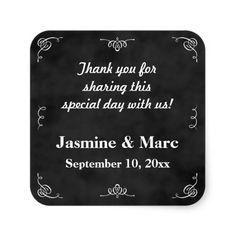Chalkboard Wedding or Bridal Shower Favor Sticker