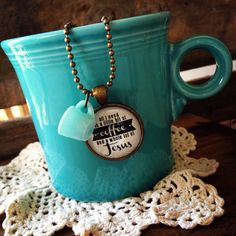 AQUA mug all i need is a little bit of coffee by theadoptshoppe, $20.00 {this will be available in my etsy shoppe tomorrow night at 9pm CST!} #coffee #mug #Jesus