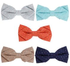 Men can be downright difficult to shop for! Here are fifty cotton anniversary gifts for him, when your husband is a tricky guy to buy for. 2nd Anniversary Gifts, Designer Bow Ties, Bow Tie Party, Bundle Monster, Monster Design, Dots Design, Bat Wings, Bows, Cyan Blue