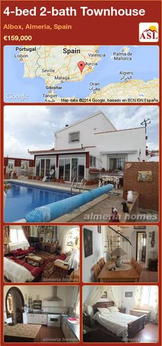 4-bed 2-bath Townhouse in Albox, Almeria, Spain ►€159,000 #PropertyForSaleInSpain