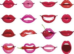 Buy Lips Cartoon Set by macrovector on GraphicRiver. Red and rose kissing and smiling cartoon lips isolated decorative icons for party presentation vector illustration. Lips Cartoon, Cartoon Faces, Cartoon Kiss, Cartoon Smile, Mouth Drawing, Drawing Lips, Smile Drawing, Drawing Step, Sun Drawing