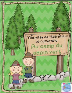 Camp fun! numeracy and literacy activities in French / Activités au Camp du Sapin vert et mots étiquettes en français