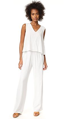 b5e8db4a1ca98c Ivory cupcakes and cashmere Goddess Tiered Top Jumpsuit