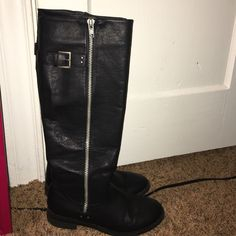 Black knee high boots. Pretty great condition for being worn a few times. They are very comfortable. Aeropostale Shoes Over the Knee Boots