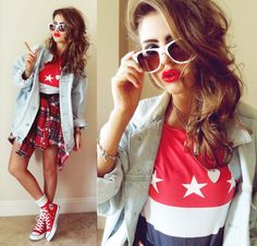 ALL ★ STAR (by Bebe Zeva) http://lookbook.nu/look/3814733-ALL-STAR