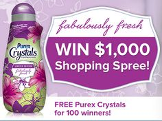 Enter DAILY for a chance to win Fabulously Fresh and WIN with Purex Cyrstals Sweepstakes - Coupon Hauls