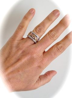 Vintage Sterling Silver Tri Tone Rose Gold by WOWTHATSBEAUTIFUL