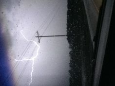 Lightening caught on camera. Cool!