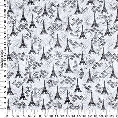 M'Liss Elements of Style III Paris White Cotton Fabric
