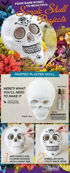 DIY Dia de los Muertos Skull project