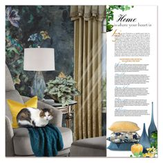 """""""Home is where Your Heart Is"""" by signaturenails-dstanley ❤ liked on Polyvore featuring interior, interiors, interior design, home, home decor, interior decorating, Universal Lighting and Decor, WALL and NOVICA"""