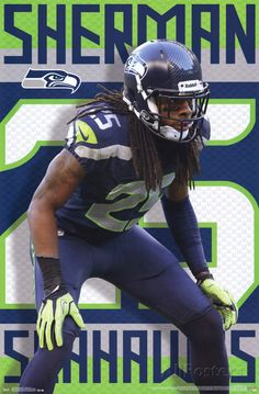 Seattle Seahawks - R Sherman 14 Poster at AllPosters.com
