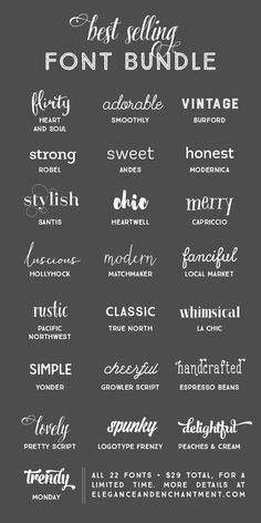 Best Selling Font Bundle - a collection of typefaces in a variety of styles to keep you covered for any project that comes your way!