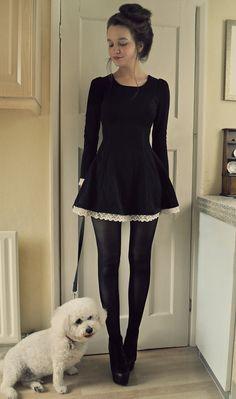 Dress: http://www.oasap.com/dresses/27893-elegant-round-neck-long-sleeve-a-line-dress.html/?fuid=902.   :) xx  Facebook: http://facebook.com/hootowlimmi  Blogspot: http://unemaisondelamode.blogspot.com  Twitter: http://twitter.com/Imogend  Tumblr: http://houseoffire.tumblr.com
