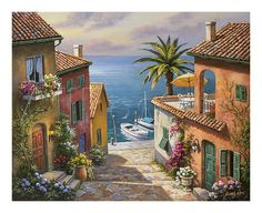 オールポスターズの ソン・キム「Villa's Private Dock」アート