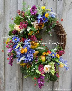 Summer Harvest Garden Wreath ~A New England Wreath Company Designer Original~