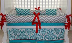 Bentley Custom Baby Bedding Crib Set 3 pc set by BabiesNBaubles, $287.00