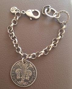 #bracciale#moneta# bagno argento #